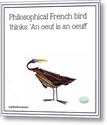 Philosophical Bird Metal Print