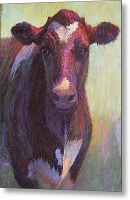 Phoebe Of Merry Mead Farm Metal Print by Susan Williamson