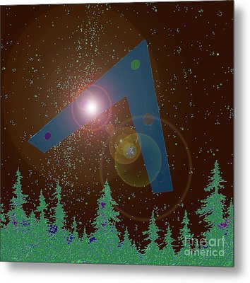 Metal Print featuring the painting Phoenix Lights Ufo by James Williamson