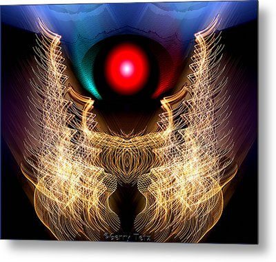 Phoenix On Fire Metal Print