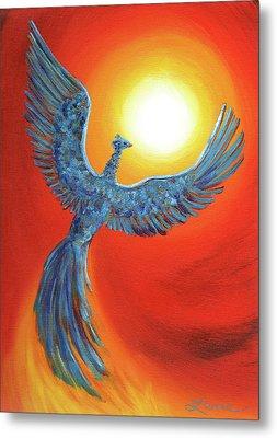 Phoenix Rising Metal Print by Laura Iverson