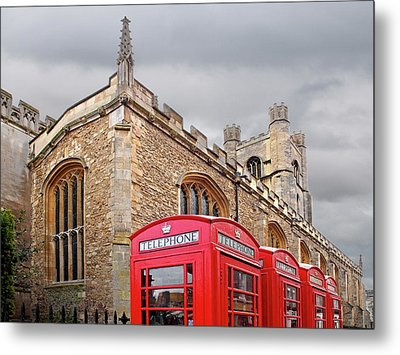Metal Print featuring the photograph Phone Home - Gt St Marys Church Cambridge by Gill Billington