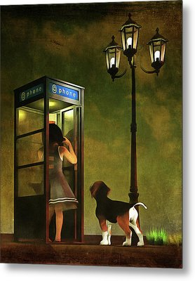 Phoning Home Metal Print