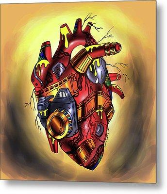 Photographer's Heart Metal Print