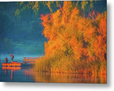 Metal Print featuring the photograph Photographing The Sunrise by Marc Crumpler
