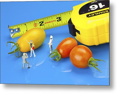 Metal Print featuring the photograph Photography Of Tomatoes Little People On Food by Paul Ge
