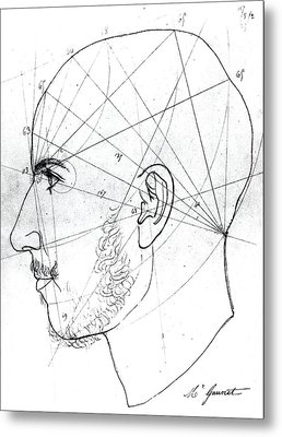 Phrenological Study Metal Print