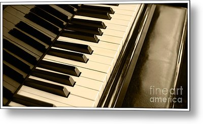 Piano Metal Print by Charuhas Images