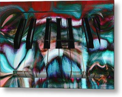 Piano Colors Metal Print by Linda Sannuti