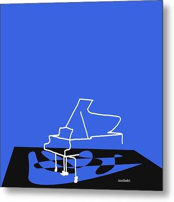 Piano In Blue Metal Print