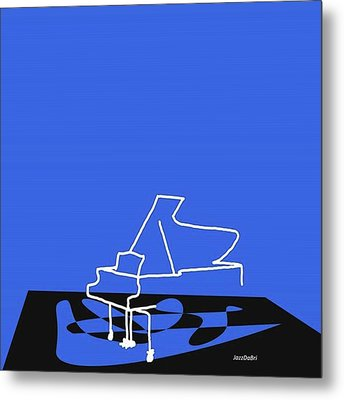 Piano In Blue Prints Available At Metal Print