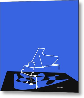 Metal Print featuring the digital art Piano In Blue by Jazz DaBri