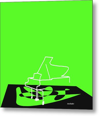 Metal Print featuring the digital art Piano In Green by Jazz DaBri