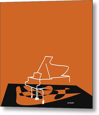 Metal Print featuring the digital art Piano In Orange by Jazz DaBri