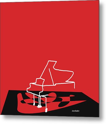 Piano In Red Metal Print