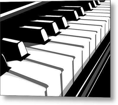Piano Keyboard No2 Metal Print