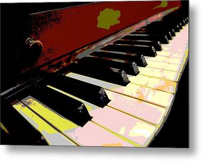 Piano Keys Metal Print by Ann Powell