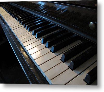 Piano Keys Metal Print by Anthony Rapp