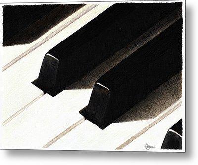 Piano Keys Metal Print by Jeanne Delage
