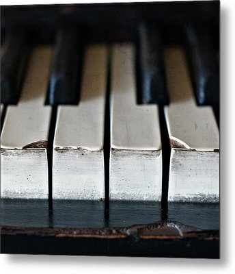 Piano Keys Metal Print by Julie Rideout