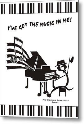 Piano Man Metal Print by Maria Watt