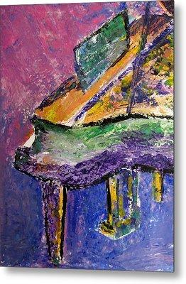 Piano Purple - Cropped Metal Print by Anita Burgermeister