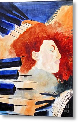 Piano Metal Print by Sandy McIntire