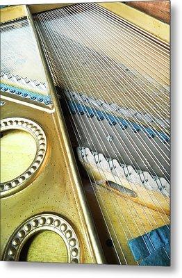 Piano Strings Metal Print