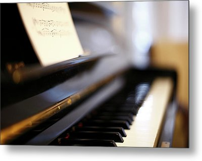 Piano With Blur Metal Print by Photo by Giuseppe Amato