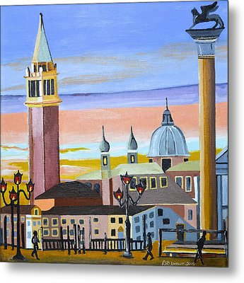 Piazza San Marco Metal Print by Donna Blossom
