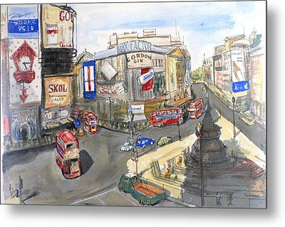Picadilly Circus Metal Print by Dan Bozich