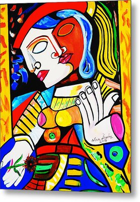 Picasso By Nora Turkish Man Metal Print by Nora Shepley