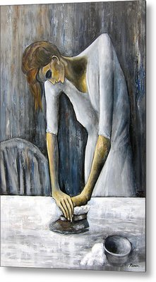 Picasso's Woman Ironing Metal Print