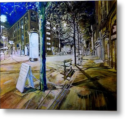 Piccadilly Gardens, Manchester Metal Print
