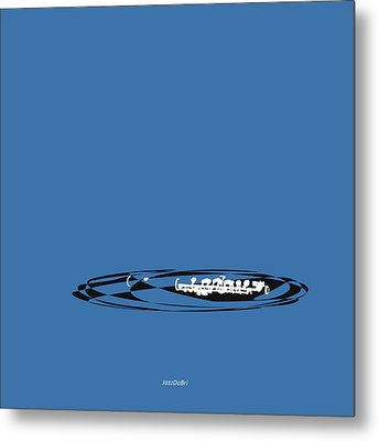 Metal Print featuring the digital art Piccolo In Blue by Jazz DaBri