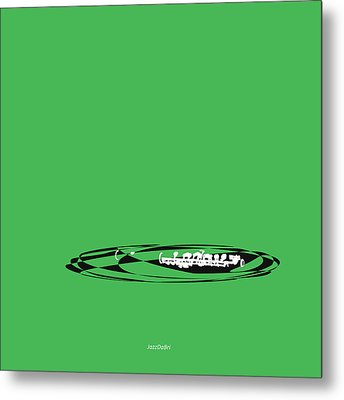Metal Print featuring the digital art Piccolo In Green by Jazz DaBri