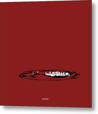 Metal Print featuring the digital art Piccolo In Orange Red by Jazz DaBri