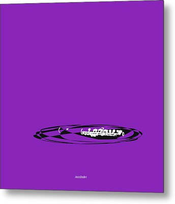 Metal Print featuring the digital art Piccolo In Purple by Jazz DaBri