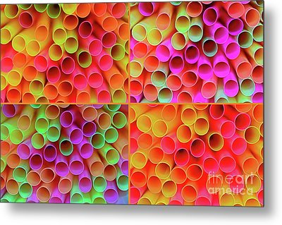 Metal Print featuring the photograph Pick A Straw By Kaye Menner by Kaye Menner