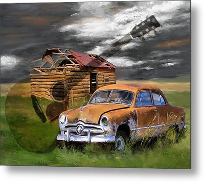 Pickin Out Yesterday Metal Print by Susan Kinney
