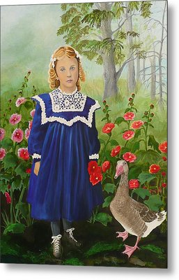 Picking Flowers Metal Print by Virginia Sincler