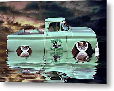Pickup Reflections Metal Print by Steven Agius