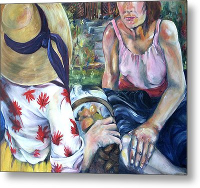 Metal Print featuring the painting Picnic by Nadine Dennis
