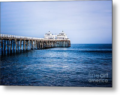 Picture Of Malibu Pier In Southern California Metal Print by Paul Velgos