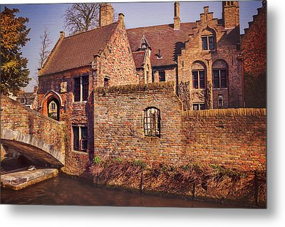 Picturesque Bruges  Metal Print