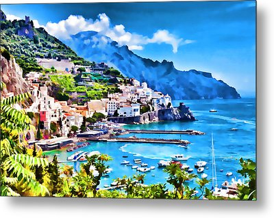 Picturesque Italy Series - Amalfi Metal Print