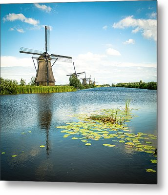 Metal Print featuring the photograph Picturesque Kinderdijk by Hannes Cmarits