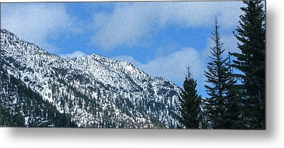 Picturing Beautiful Horizons Methow Valley Motivational Artwork  Metal Print by Omaste Witkowski