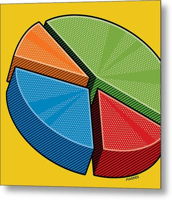 Metal Print featuring the digital art Pie Chart by Ron Magnes