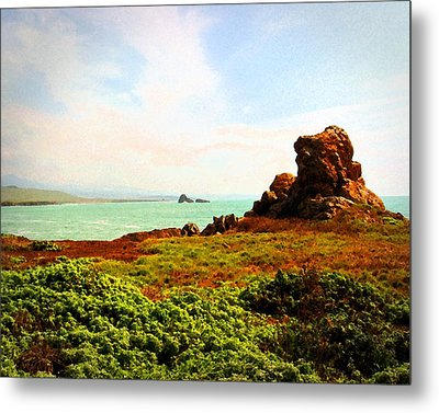 Metal Print featuring the photograph Piedras Blancas 3 by Timothy Bulone